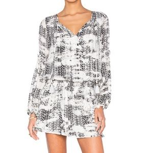 Parker Maeve Dress XS in Black Graphic NWOT